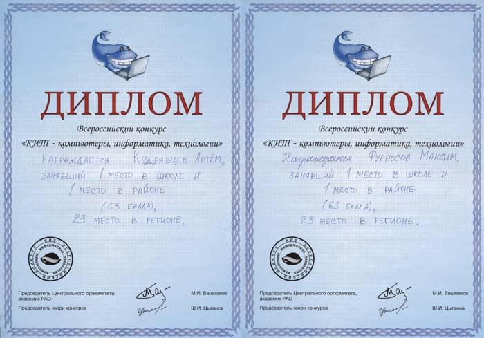 Поздравляем победителей конкурса КИТ Марта  Остальные участники конкурса получают Сертификаты